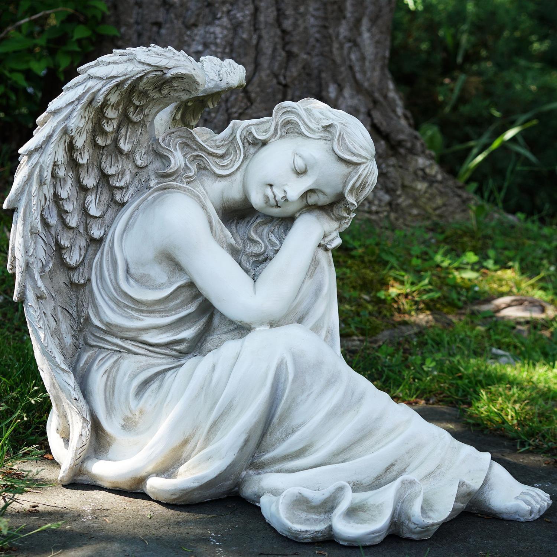 """19"""" Resting Angel Religious Outdoor Garden Statue ..."""