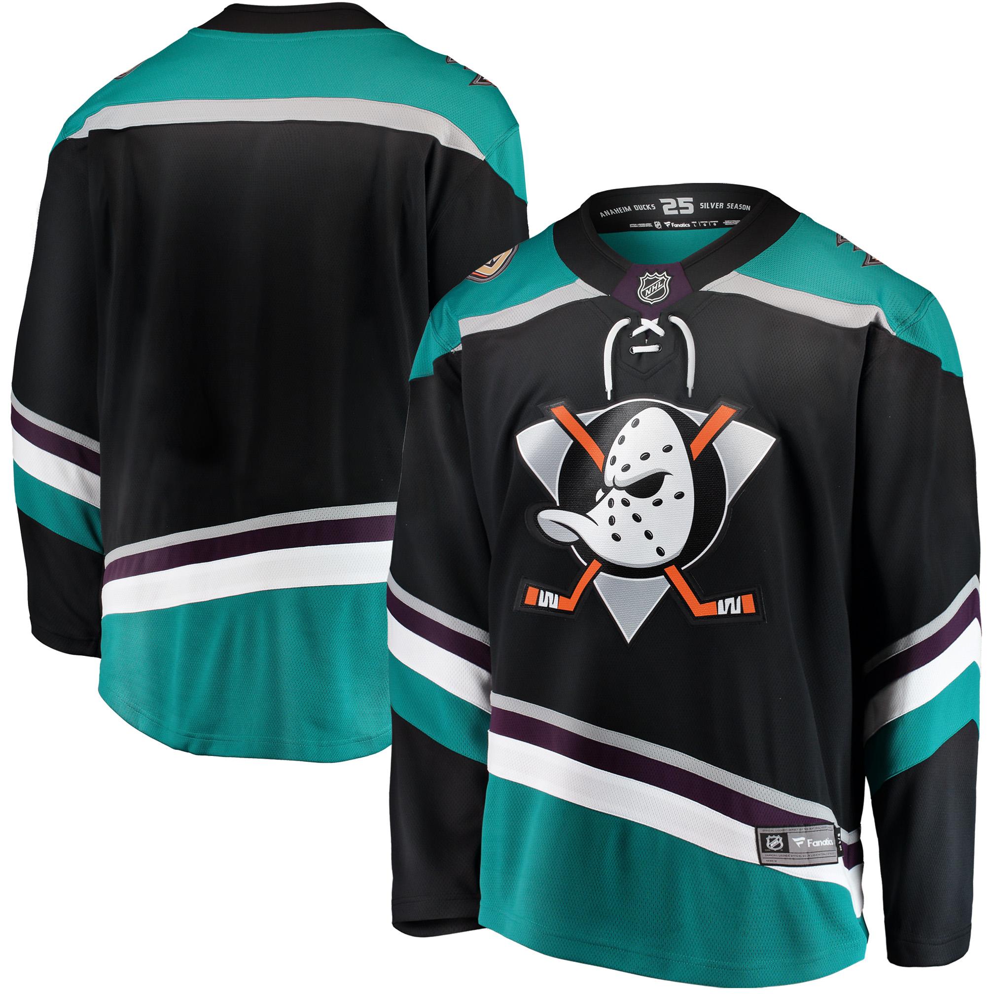 Anaheim Ducks Fanatics Branded Alternate Breakaway Jersey - Black