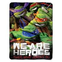"""Teenage Mutant Ninja Turtles """"We Are Heroes""""  Micro Raschel Throw Blanket"""