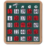 Jumbo Finger-Tip Bingo Cards- Pack-20