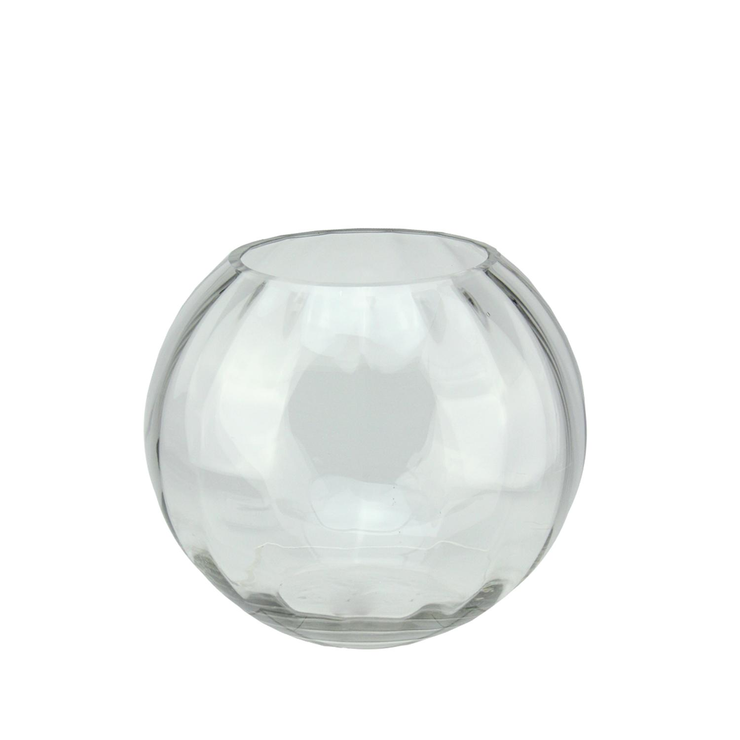 "8.75"" Round Segmented Transparent Glass Decorative Bowl by Northlight"