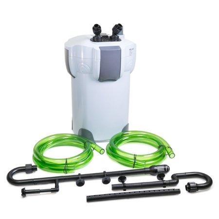 Oxyful 525 GPH Aquarium Pond 5-Stage External Cleaner Canister Filter with 9-watt UV Sterilizer