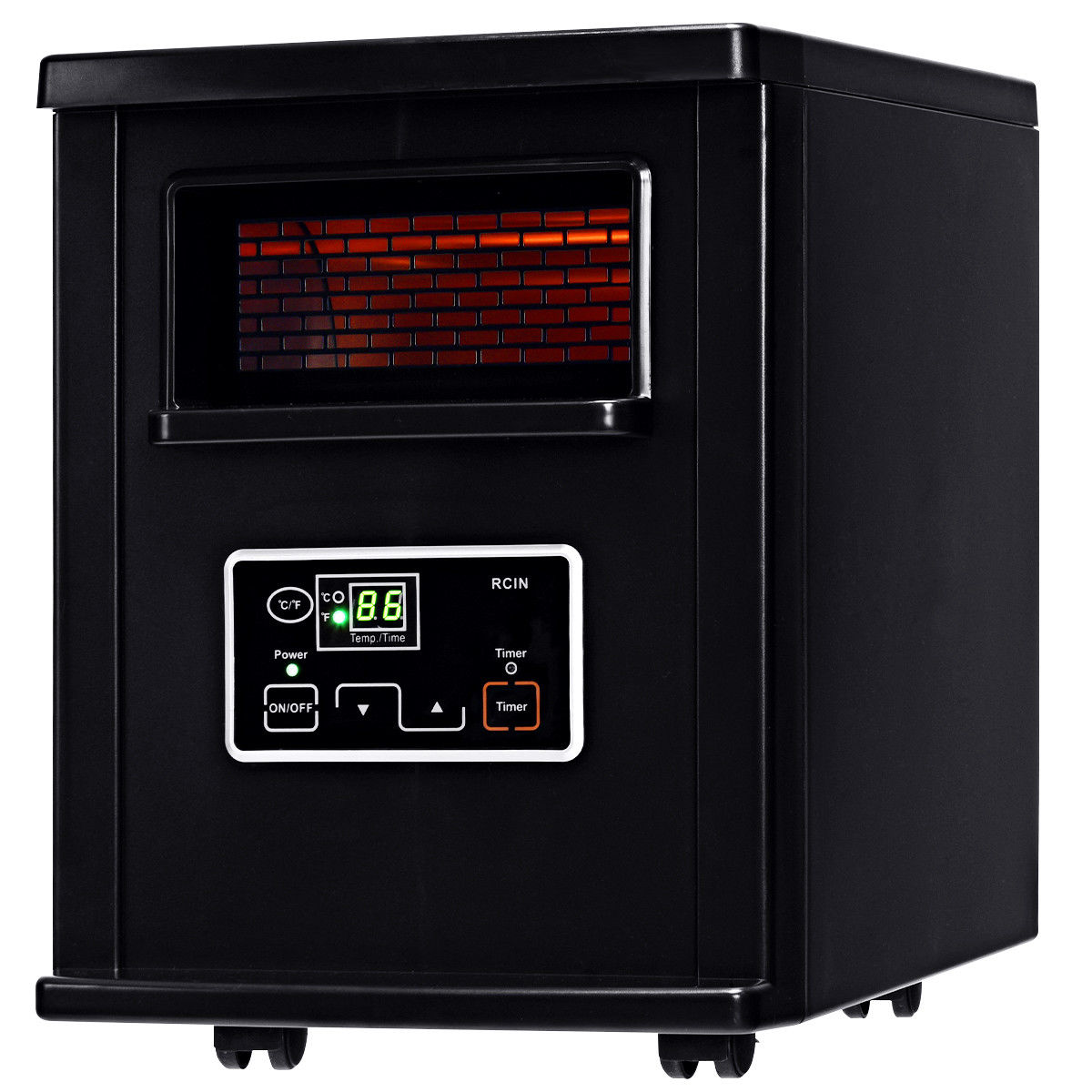 1500W Electric Portable Infrared Quartz Space Heater Remote