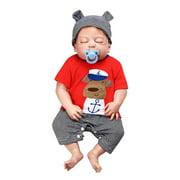 Reborn Baby Doll 23 inch Lifelike Realistic Full Body Silicone Vinyl Baby Doll Washable Sleeping Boy Doll Infant Toddler Children Gift