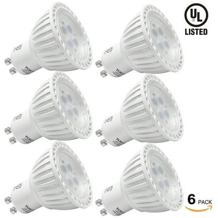 Gu10 Fluorescent Bulbs - 6 Pack MR16 GU10 LED Light Bulb, 5W LED Bulbs, 2700K Soft White