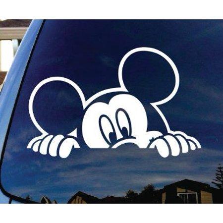 Mickey Peeking over Window: Wall or Window Decal 6