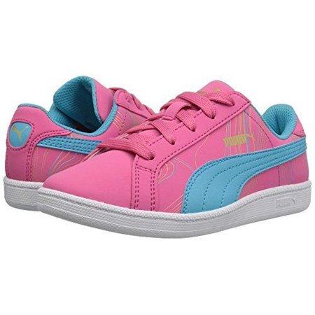 bc699ca720 PUMA Girls' Smash Fun Buck Marble V Inf Sneaker, Fandango Pink/Blue