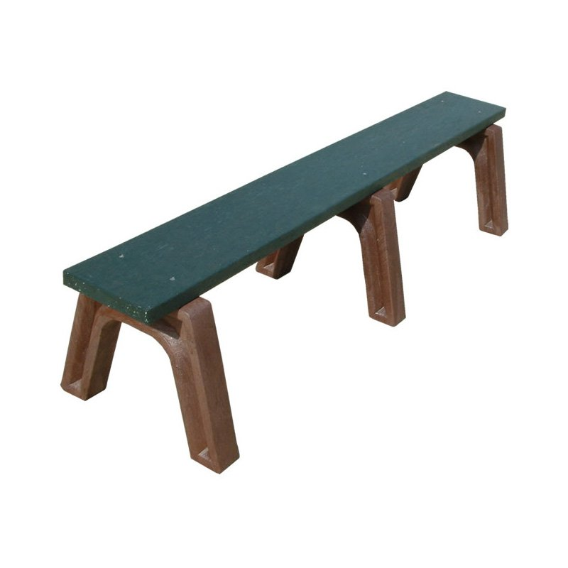 Polly Products Landmark Recycled Plastic Flat Bench