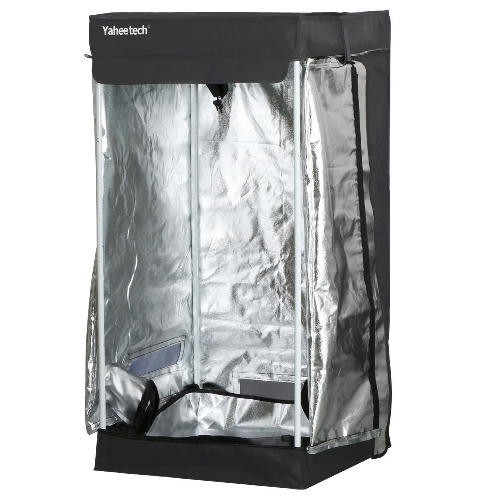 Yaheetech Black Waterproof Indoor Germination Grow Tents Room Hydroponic Grow Tent 24 x 24 x 48  sc 1 st  Walmart.com & Yaheetech Black Waterproof Indoor Germination Grow Tents Room ...