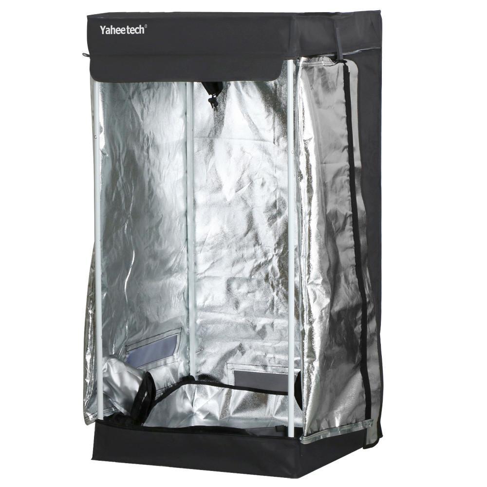 Yaheetech Black Waterproof Indoor Germination Grow Tents Room Hydroponic Grow Tent 24 x 24 x 48  sc 1 st  Walmart & Grow Tents