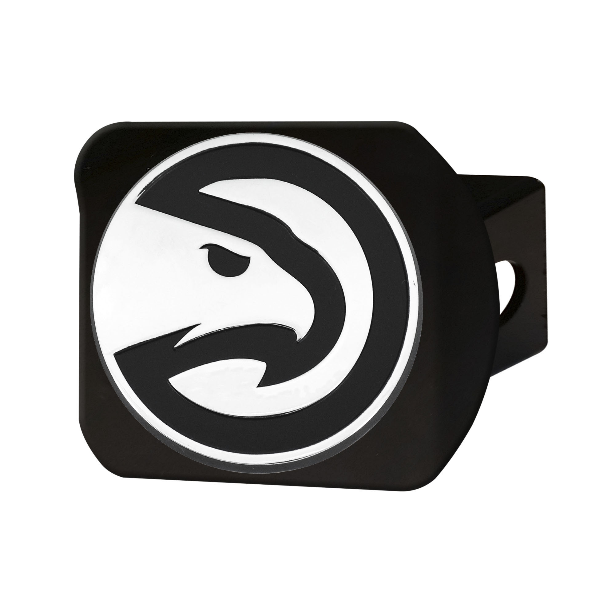 NBA Atlanta Hawks Black Hitch Cover Automotive Accessory