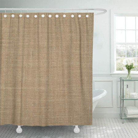 KSADK Braid Beige Burlap Natural The Brown Abstract Canvas Shower Curtain Bathroom Curtain 60x72 inch (Curtain Shower Brown)