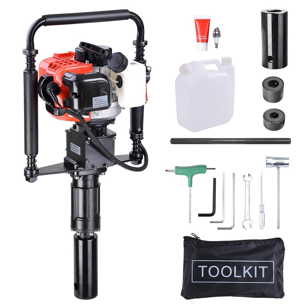Yescom 2 Stroke 32.7cc Gas Powered T Post Driver 1.2HP Gasoline Petrol Pile Driver Portable Lightweight w/ EPA Certificated