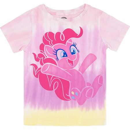 Rainbow Dash Shirt (My Little Pony Girls Tie Dye T-Shirt - Rainbow Dash, Pinkie Pie, Twilight Sparkle, Apple Jack (6X-Large, Pinkie)