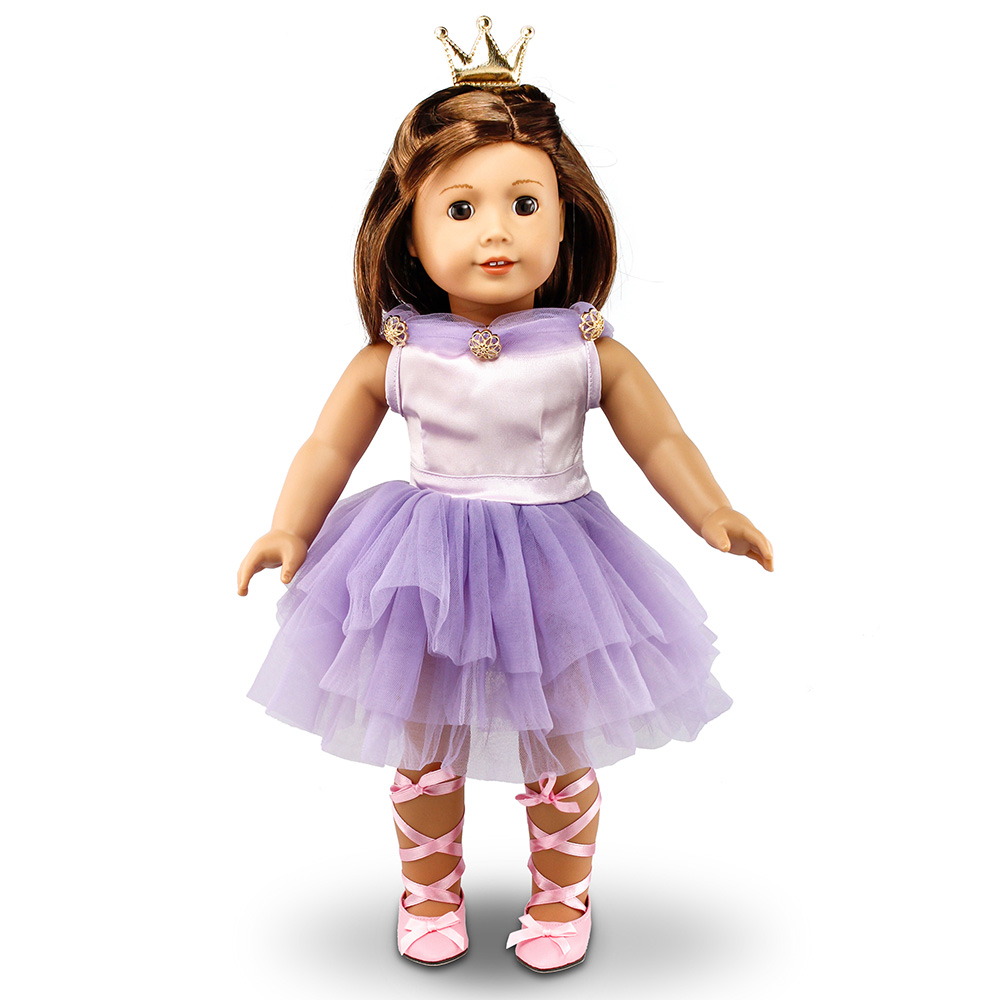 4 pc Pink Skating Dress Outfit made for 18 inch American Girl Doll Clothes