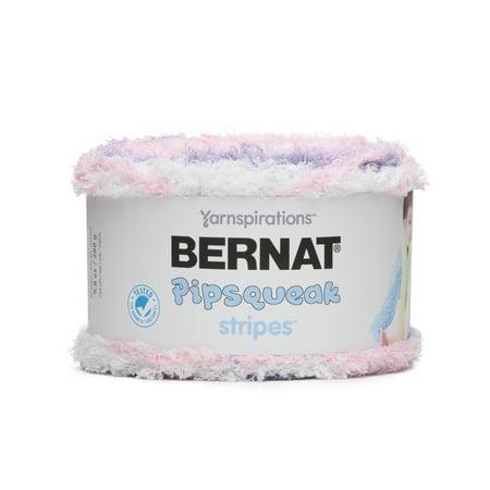 Bernat Pipsqueak Stripes Cotton Candy Yarn, 284 Yd.