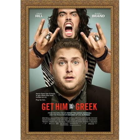 Get Him to the Greek 28x40 Large Gold Ornate Wood Framed Canvas Movie Poster Art - Greek God Attire
