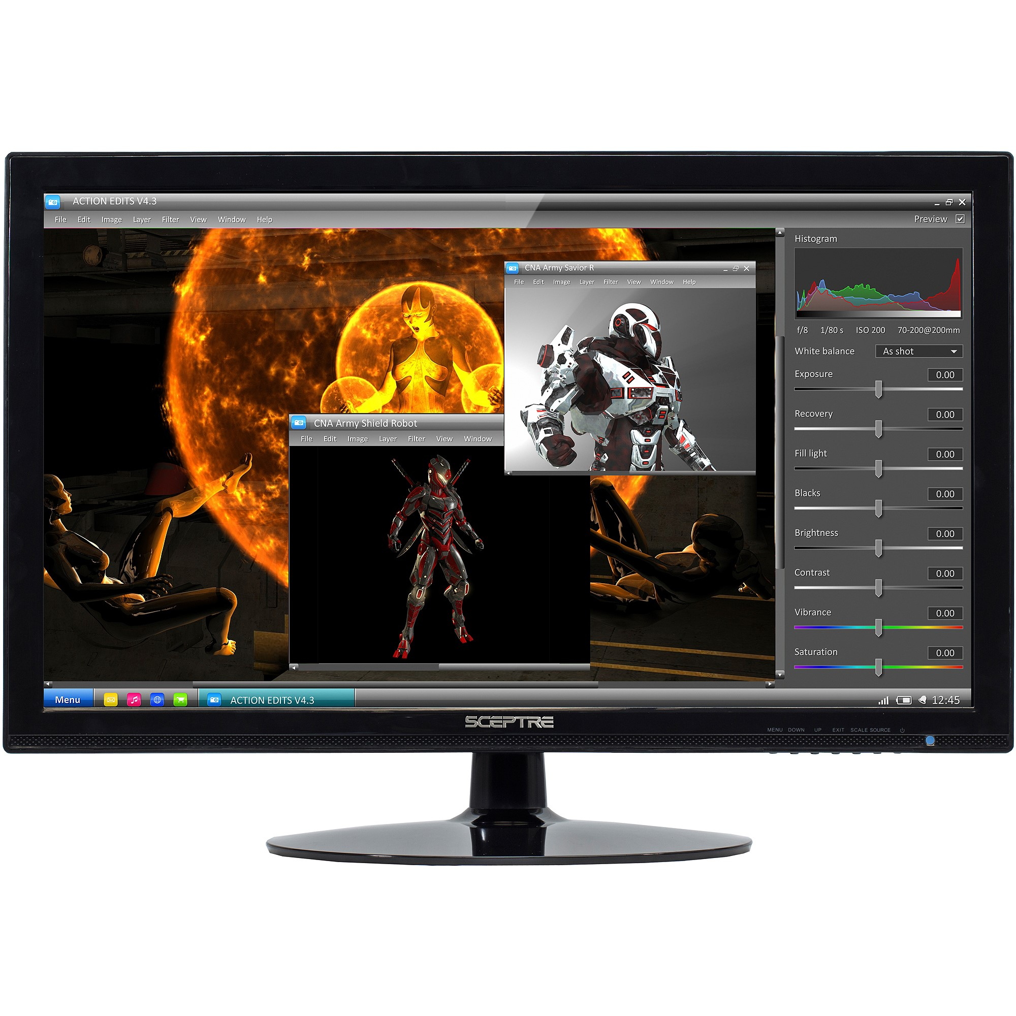 "Sceptre 24"" LED Full HD 1080p Monitor (E248W-1920 Black)"
