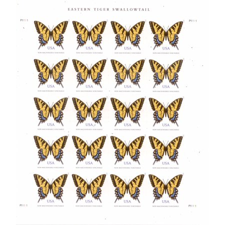 Eastern Tiger Swallowtail Sheet Of 20 Two Ounce Forever Usps Postage Stamps Greeting Card