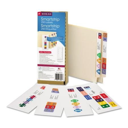 Smead SmartStrip Refill Label Kit, 250 Label Forms/Pack, Inkjet -SMD66006