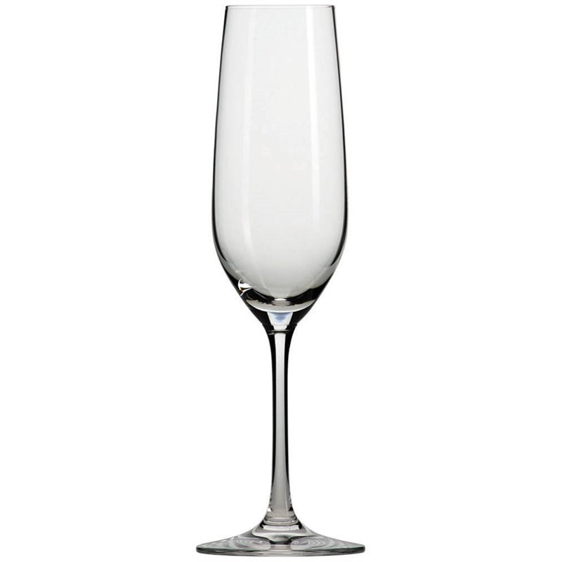 Schott Zwiesel Tritan Crystal Glass Stemware Forte Collection Champagne Flute with Effervescence Points, 7.7-Ounce, Set