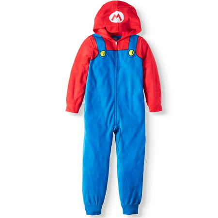Super Mario Bros. Boy's Hooded Sleeper (Big Boys & Little Boys) - Mario Bros Outfit
