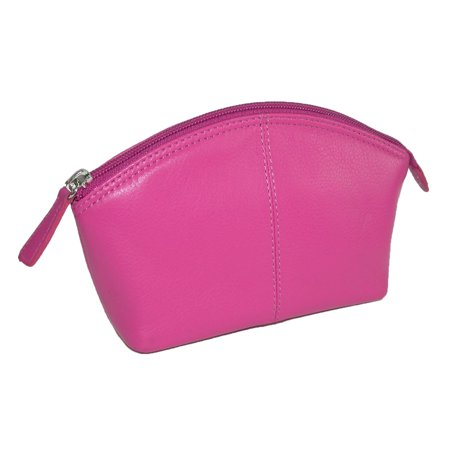 CTM Leather Zip Top Cosmetic Travel Case - image 2 of 2