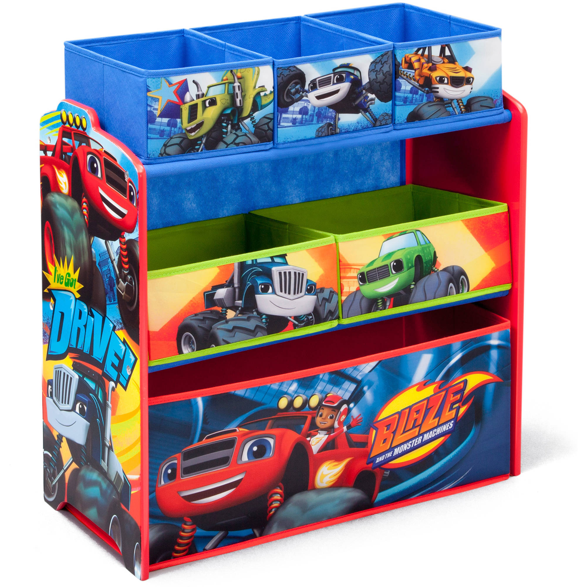 Delta Children Nick Jr Blaze and the Monster Machines Multi-Bin Toy Organizer