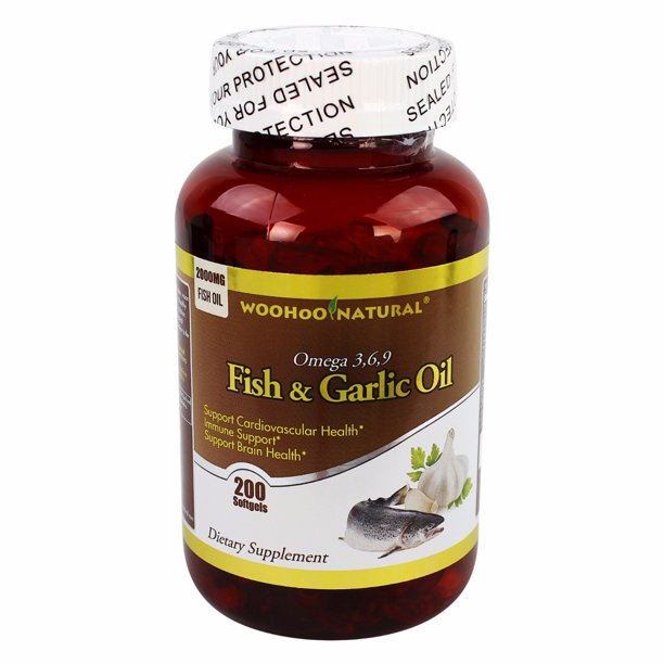 Woohoo Natural Fish Garlic Oil With Omega 3 6 9 Walmart Com