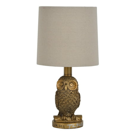 Better Homes & Gardens Gold Finish Resting Owl Accent Lamp