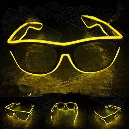 Flashing Light Glasses (LED Flashing EL Luminous Glasses Party Decorative Lighting Classic Gift Bright Prop Light Up Party Glasses Party)