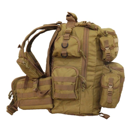 4ffc38c20354e Every Day Carry Ultimate 3 Day Tactical Backpack Hydration Ready + Molle  System - Walmart.com