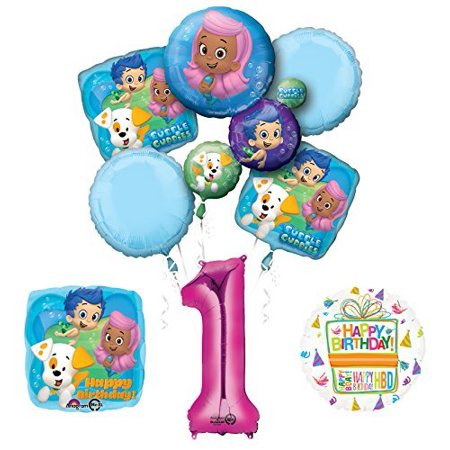 Bubble Guppies 1st Birthday Party Supplies and Balloon Bouquet Decorations](Bubble Guppies Birthday)