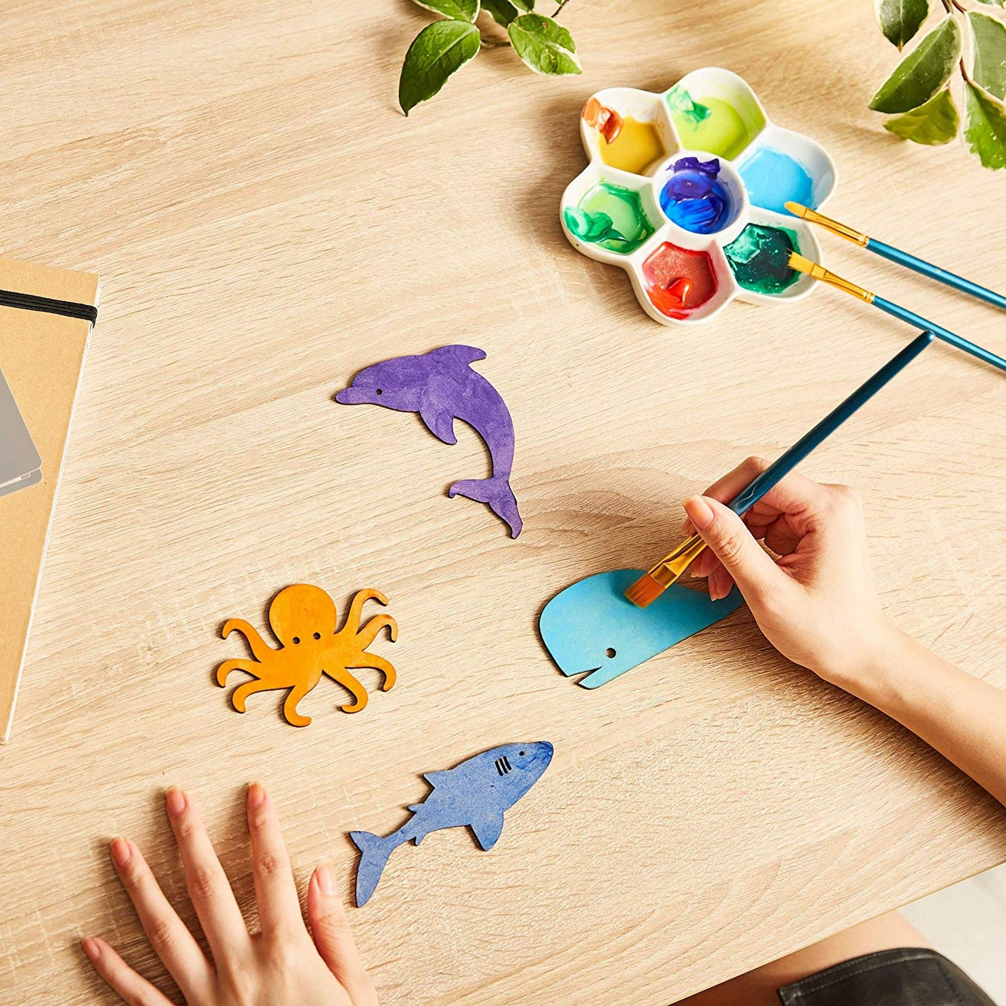 7cm Shape Art Projects Craft  Decoration Wood Fish Gift Decoupage Ornament Craft Supply Unpainted MG000912 Wooden Fish Skeleton