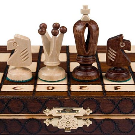 Carved Wooden Chess Pieces (Chess Royal 30 European Wooden Handmade International Set, 11.81 x)