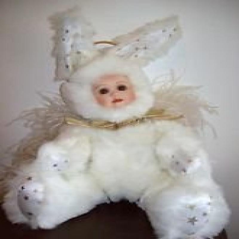"""Marie Osmond Velveteen Rabbit Heavenly Hare 13"""" Porcelain..."""