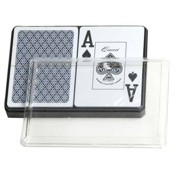 6 Double Decks of Large Numbered Plastic Playing Cards by