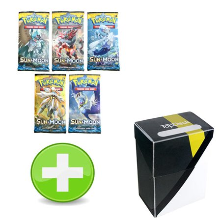 Pokemon Sun And Moon Booster Pack With Ultra Ball Colorway Deck Box
