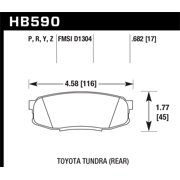 Hawk 08-10 Toyota Land Cruiser / 07-10 Tundra Super Duty Street Rear Brake Pads