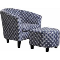 Nathaniel Home Paisley Tub Chair with Ottoman, Multiple Colors