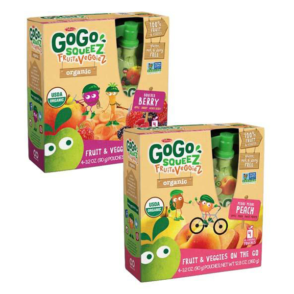 Gogo Squeez Fruit & Veggiez Variety Pack 3.2 oz Pouches - Pack of 48