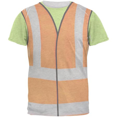 Halloween Road Worker Construction Vest Costume Mens T Shirt](Halloween City Old Country Road)