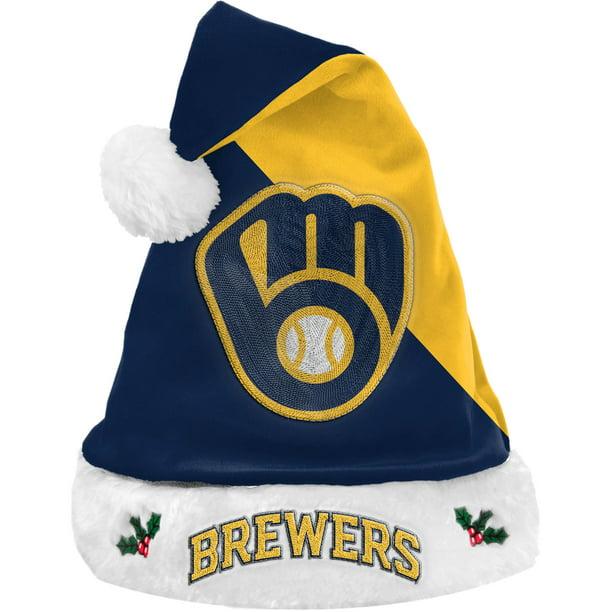 One Size Team Color FOCO NCAA Michigan Wolverines Plush Holiday Santa Hat Cap