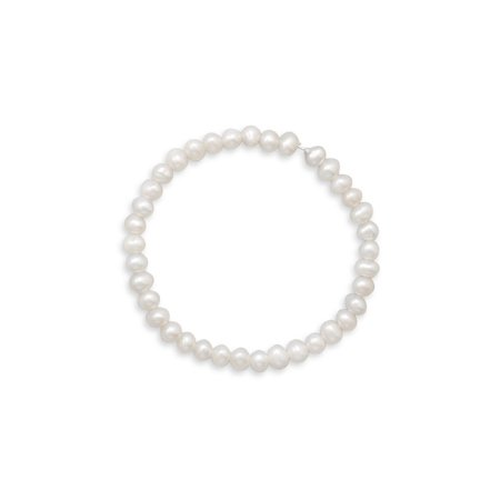 White Cultured Freshwater Pearl Small Stretch Bracelet Small Pearl Bracelet