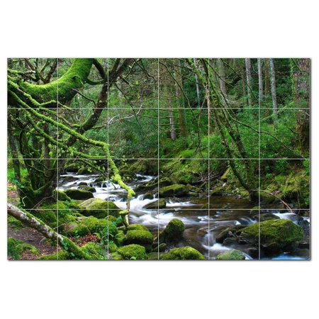 River Photo Ceramic Tile Mural Kitchen Backsplash Bathroom Shower 4057