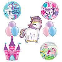 Product Image Unicorn Birthday Girl Party Supplies And Princess Castle Balloon Decorations