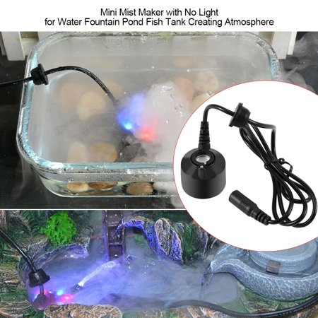 OTVIAP Mini Black Mist Maker with No Light for Water Fountain Pond Fish Tank Creating Atmosphere ,Fountain Mist Maker, Air Humidifier Magic Mist Water Fountain