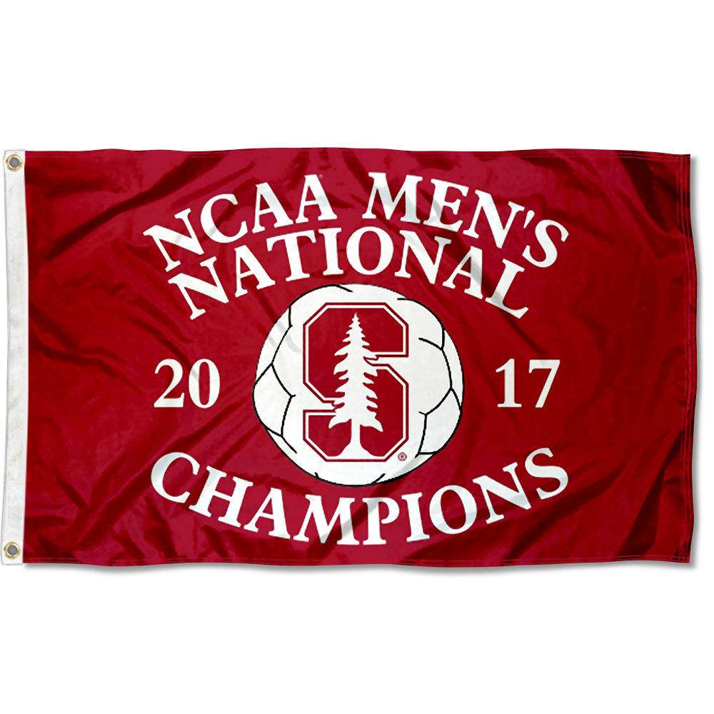 Stanford University Cardinal 2017 Men's Soccer Champions Flag