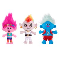 Trolls World Tour Small Plush 3-Pack - Grand Finale Poppy, Grand Finale Barb, and Biggie, Ages 3+