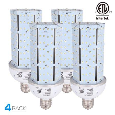 TORCHSTAR 4 Pack 100W LED Corn Bulb Lamp Light, LED Lights Corn Light Bulb, Corn Bulb Light Lamp, for Street Lamp, Post Lighting, Barn, Porch, Backyard, 5000K Daylight, E39